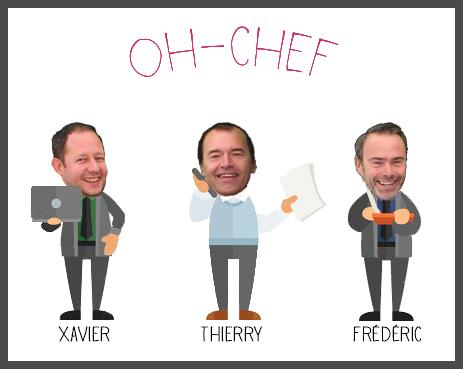 Découvrez l'équipe d'Oh-Chef !